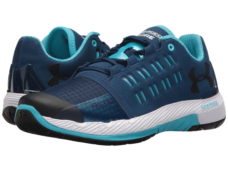 Under Armour - UA Charged Core (Blackout Navy/Island Blues/Black) Women's Cross Training Shoes