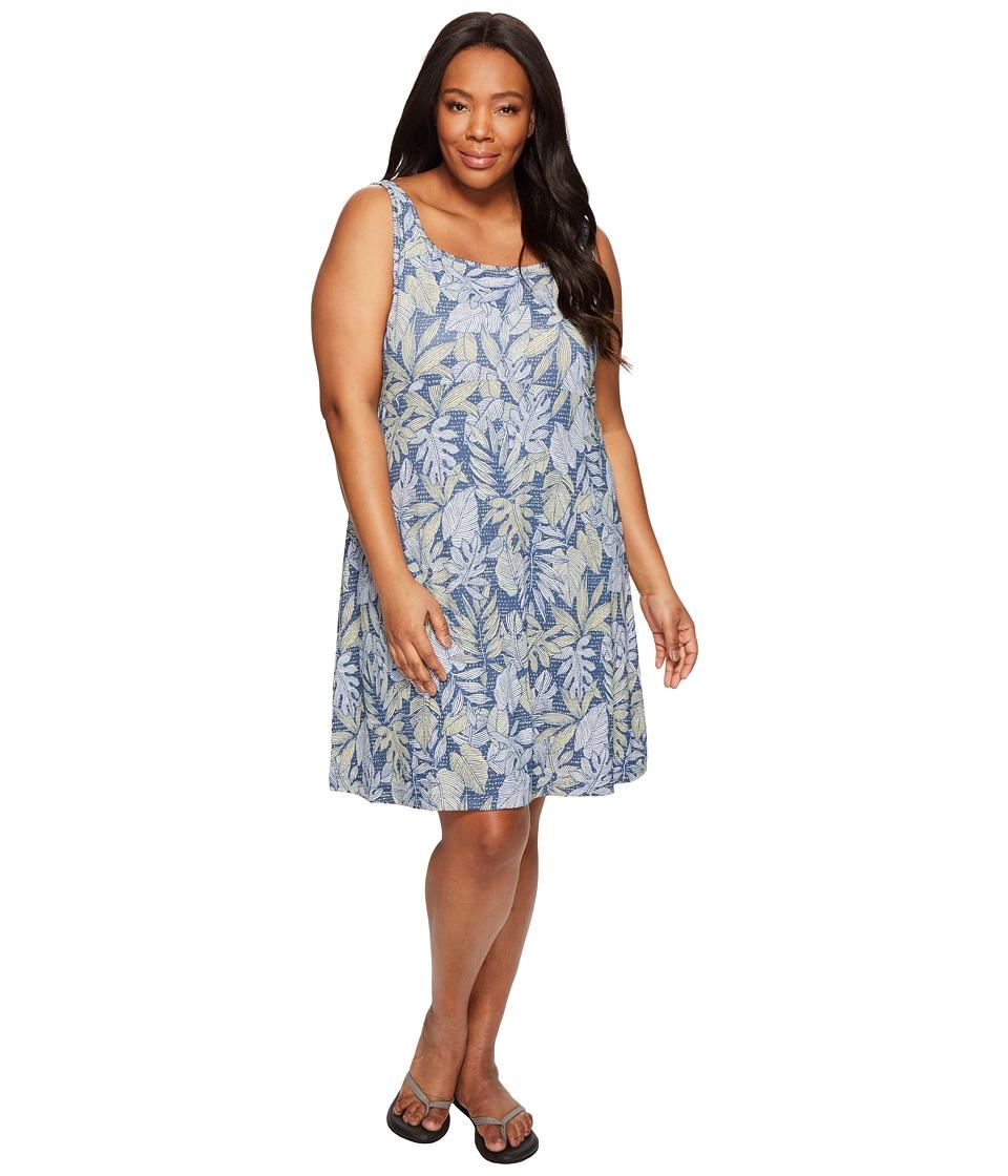 Columbia - Plus Size Freezer III Dress (Sunlit Tropical Dot) Women's Dress