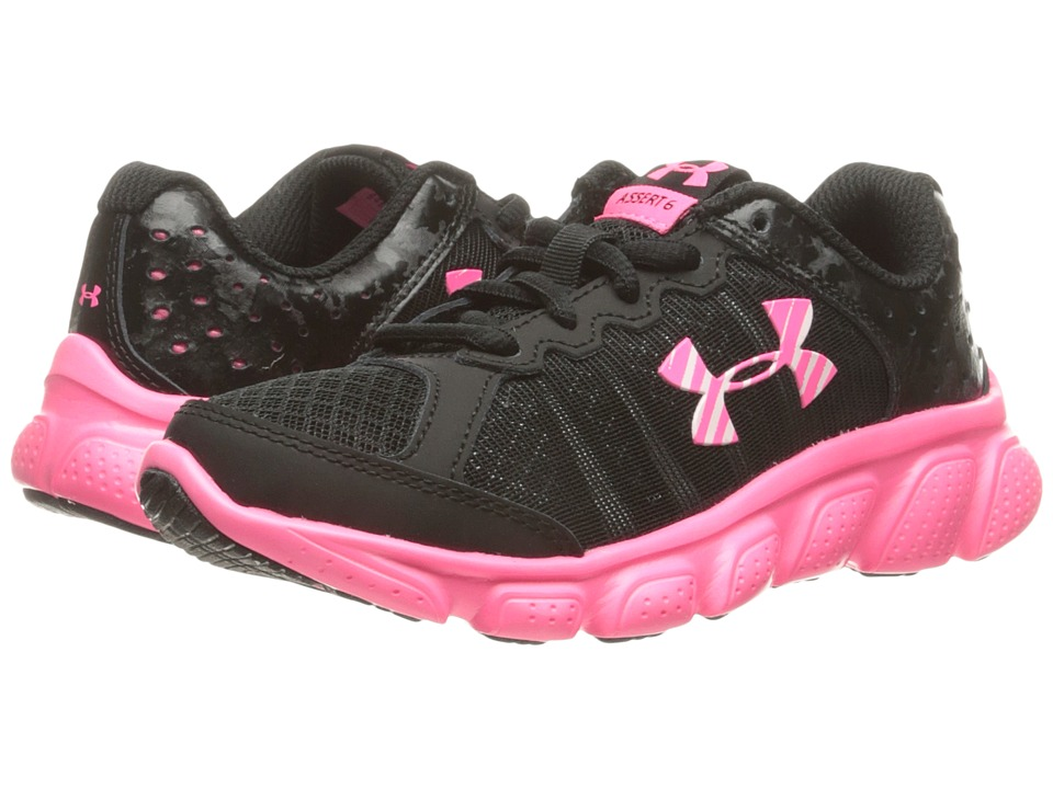 Under Armour Kids UA GPS Assert 6 (Little Kid) (Black/Mojo Pink/Mojo Pink) Girls Shoes