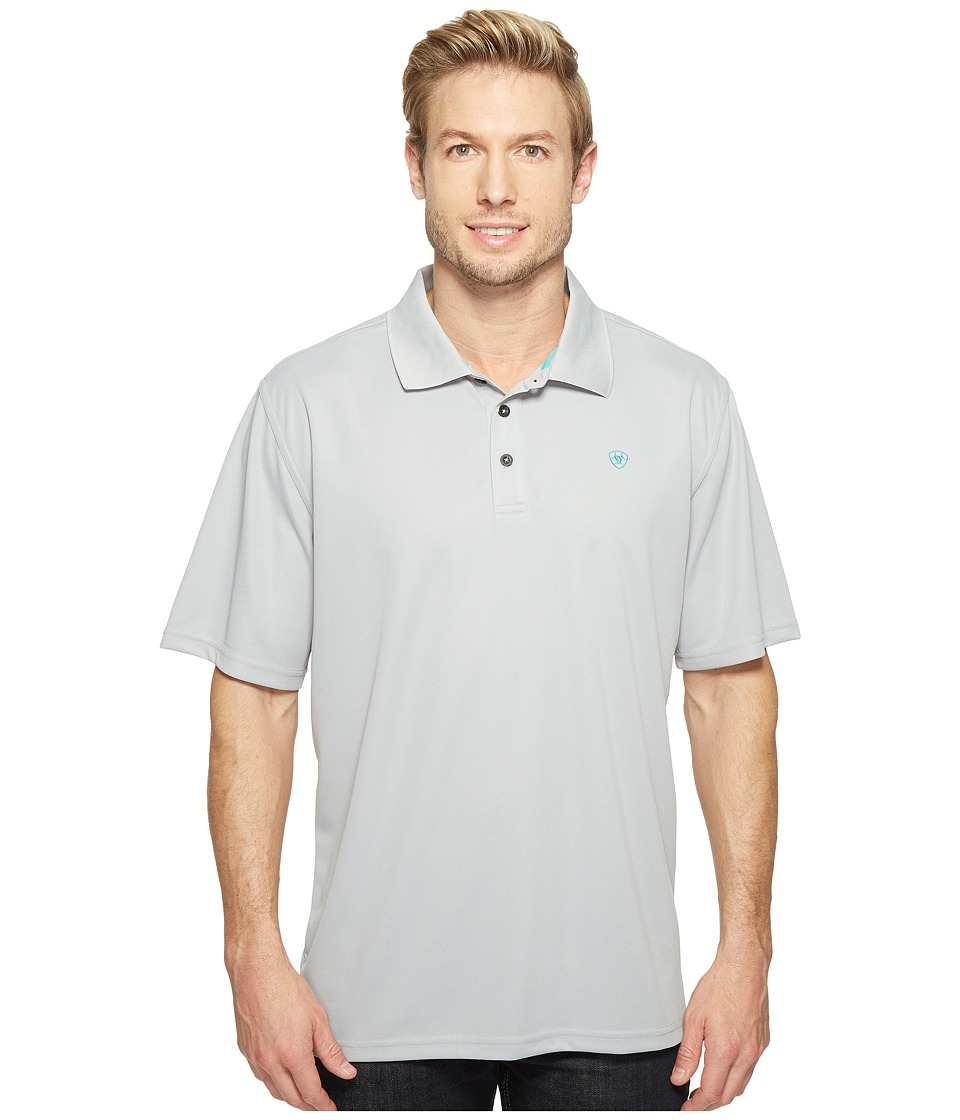 Ariat - Tek Polo (Silver Lining) Men's Short Sleeve Pullover