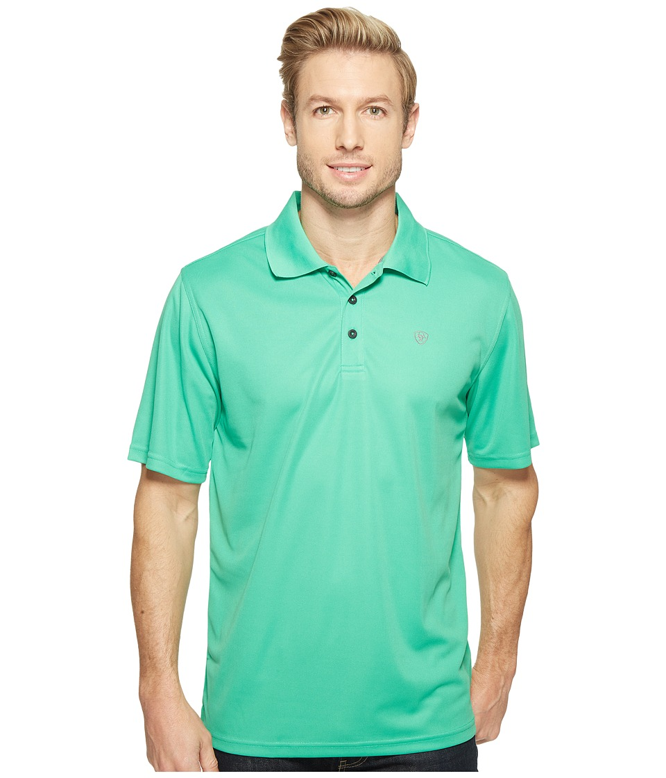 Ariat - Tek Polo (Photo Plasm) Men's Short Sleeve Pullover