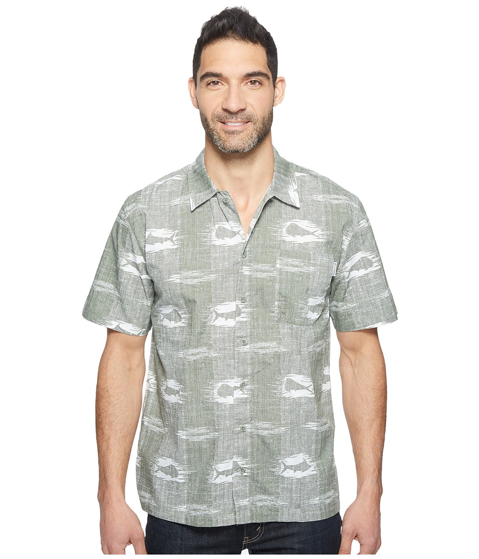 Columbia - Trollers Besttm S/S Shirt (Cypress Ikat Fish) Men's Short Sleeve Button Up