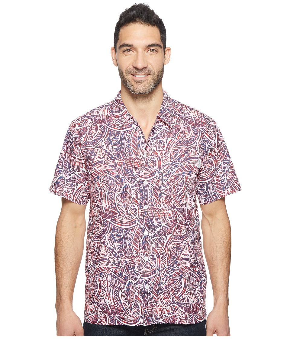 Columbia - Trollers Besttm S/S Shirt (Sunset Red Tuna) Men's Short Sleeve Button Up