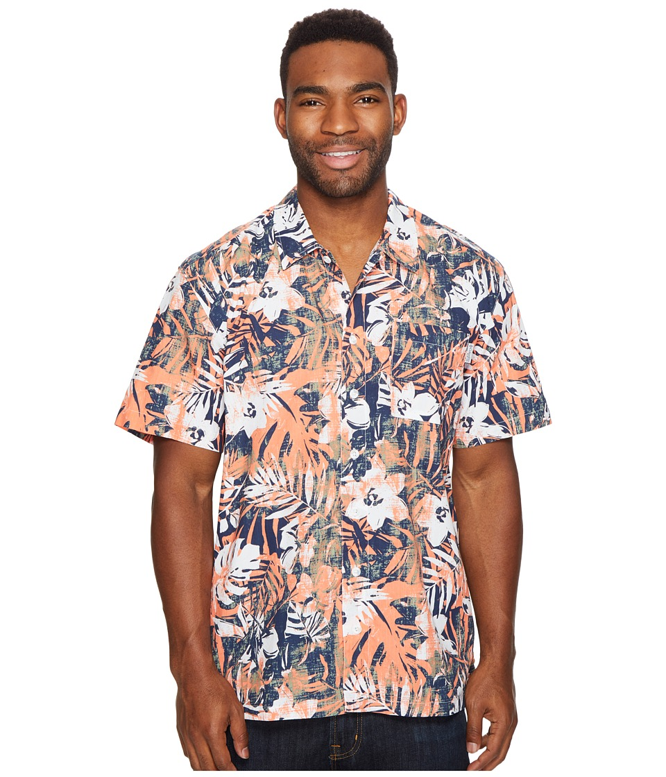 Columbia - Trollers Besttm S/S Shirt (Bright Peach Botanical Fish) Men's Short Sleeve Button Up