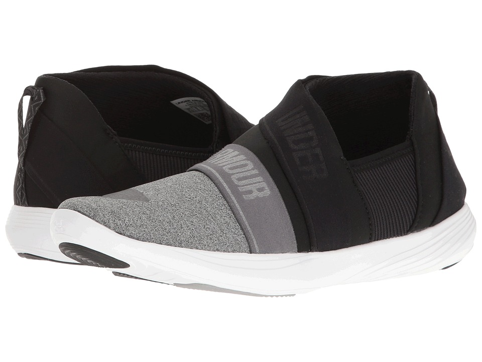 Under Armour - UA Street Precision Slip-On Segmented (Gray Wolf/Black/Rhino Gray) Women's Cross Training Shoes