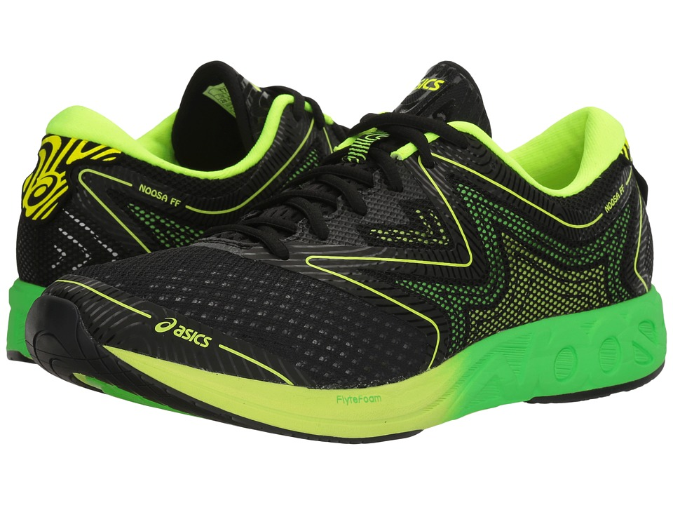 ASICS - Noosa FF (Black/Green Gecko/Safety Yellow) Men's Running Shoes