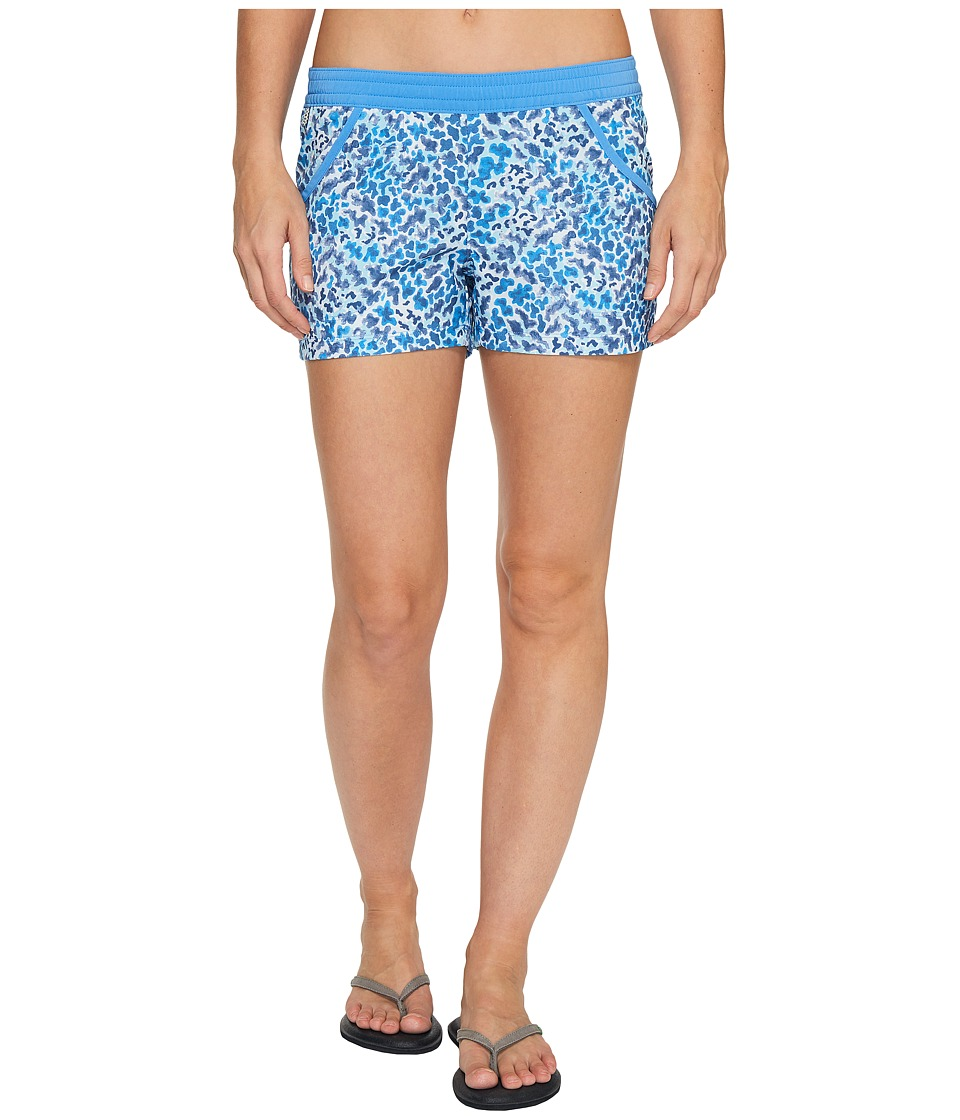 Columbia Tidal Shorts (Harbor Blue Coral Print) Women