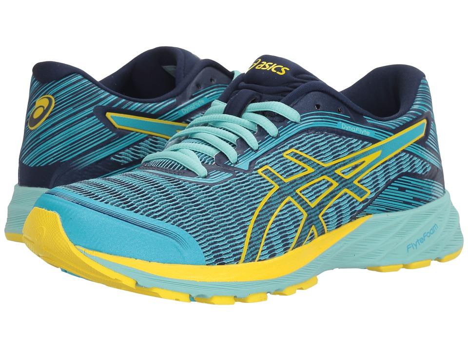ASICS - DynaFlyte (Aquarium/Sun/Indigo Blue) Women's Running Shoes