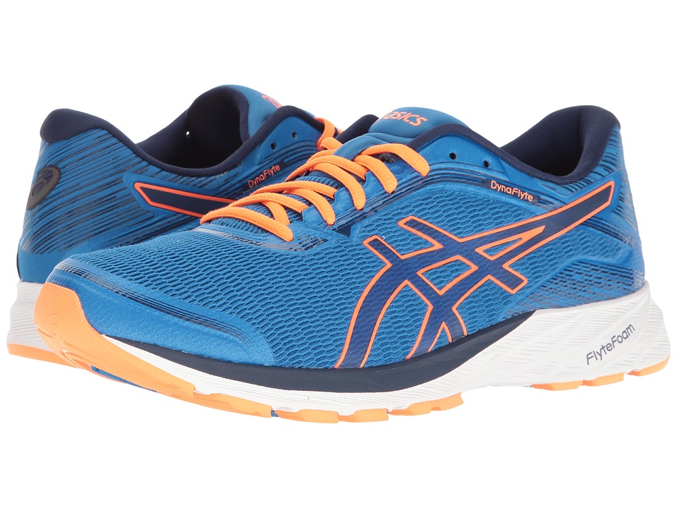 ASICS - DynaFlyte (Electric Blue/Indigo Blue/Hot Orange) Men's Running Shoes