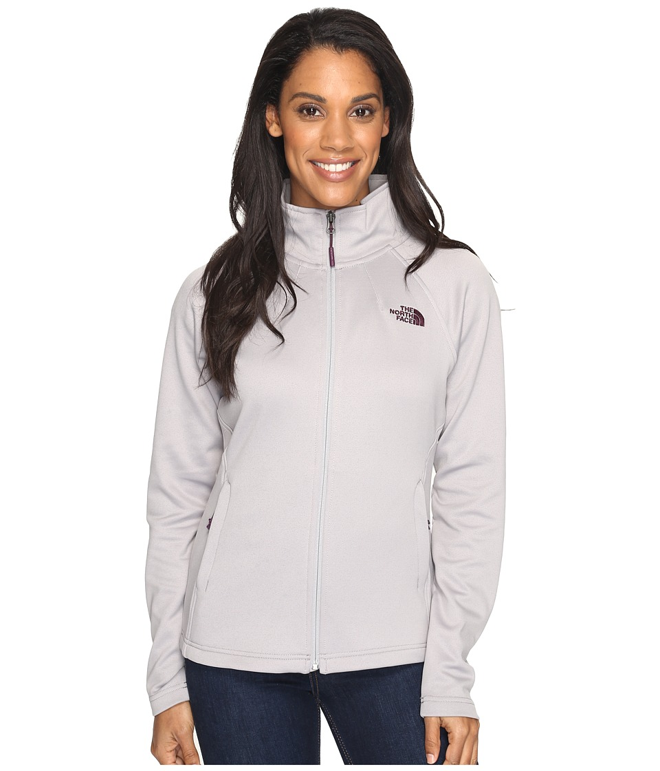 The North Face - Momentum Full Zip Jacket (Metallic Silver (Prior Season)) Women's Coat