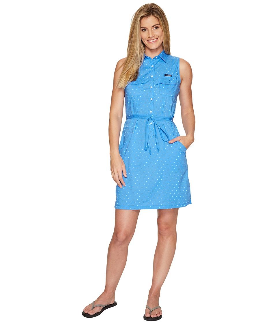 Columbia - Super Boneheadtm II Sleeveless Dress (Harbor Blue Printed Polka Dot) Women's Dress