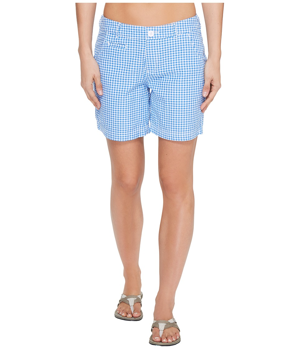 Columbia Super Boneheadtm II Short (Harbor Blue Gingham) Women