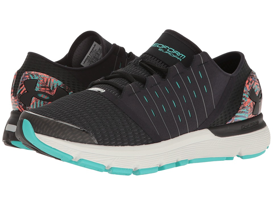Under Armour - UA Speedform Europa City Record (Black/Rhino Gray/Black) Men's Running Shoes