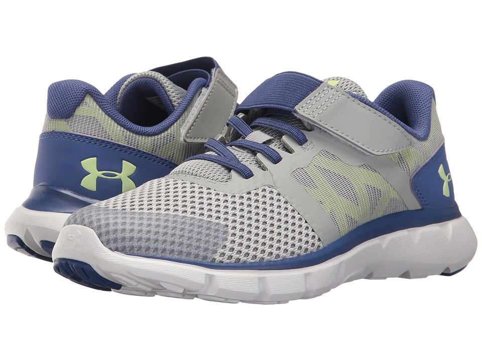 Under Armour Kids - UA GPS The Shift RN 2 AC (Little Kid) (Glacier Gray/Deep Periwinkle/Lime Fizz) Girls Shoes