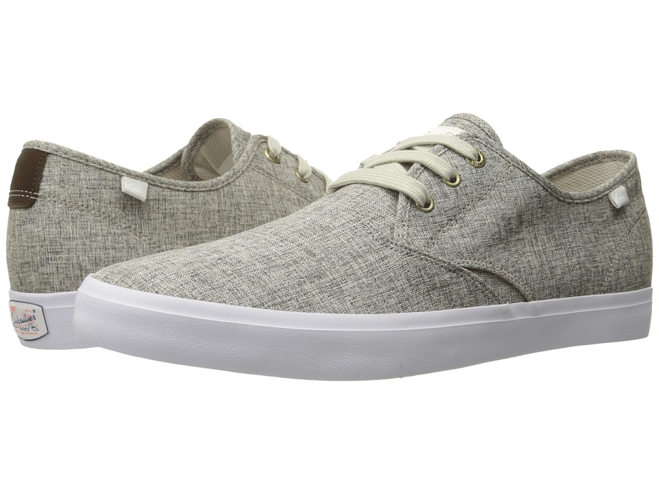 Quiksilver  QUIKSILVER - SHOREBREAK DELUXE (GREY/GREY/WHITE) MEN'S LACE UP CASUAL SHOES