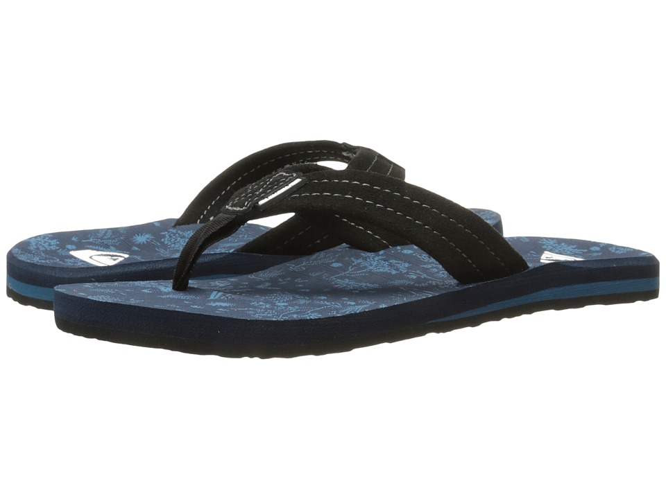 Quiksilver - Carver Suede Art (Black/Blue/Black) Men's Sandals