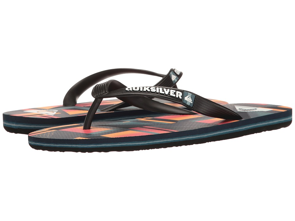 Quiksilver - Molokai Check Remix (Black/Red/Black) Men's Sandals
