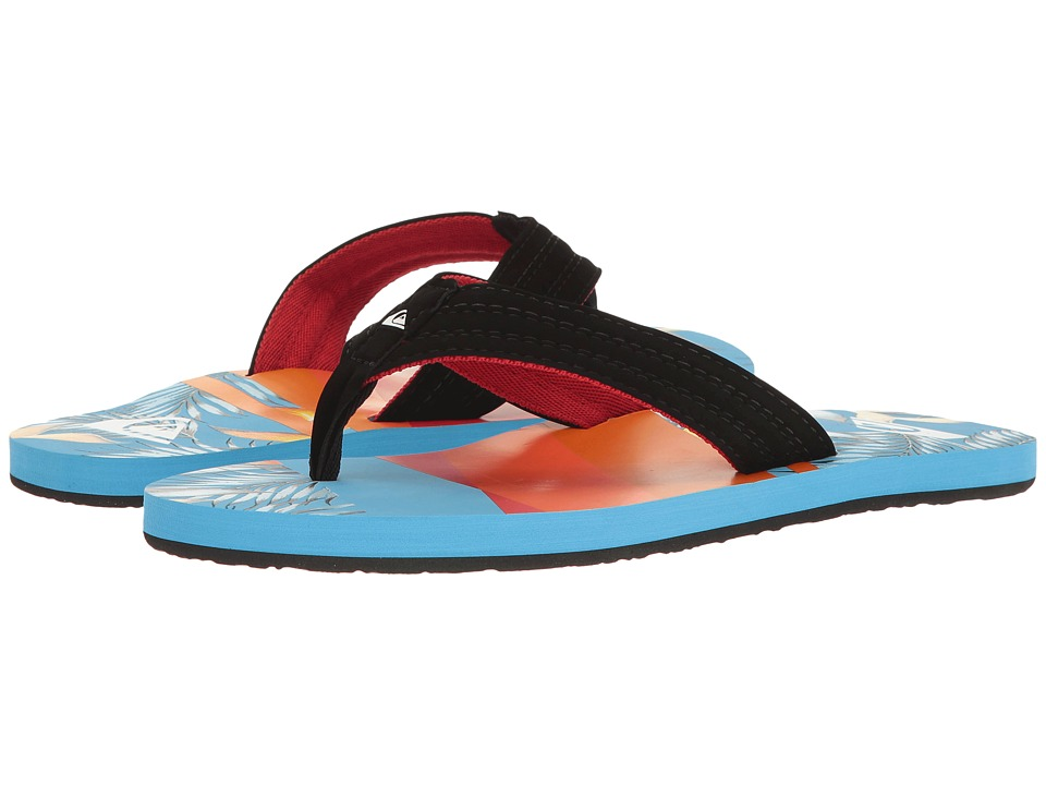 Quiksilver - Basis (Black/Red/Blue) Men's Sandals