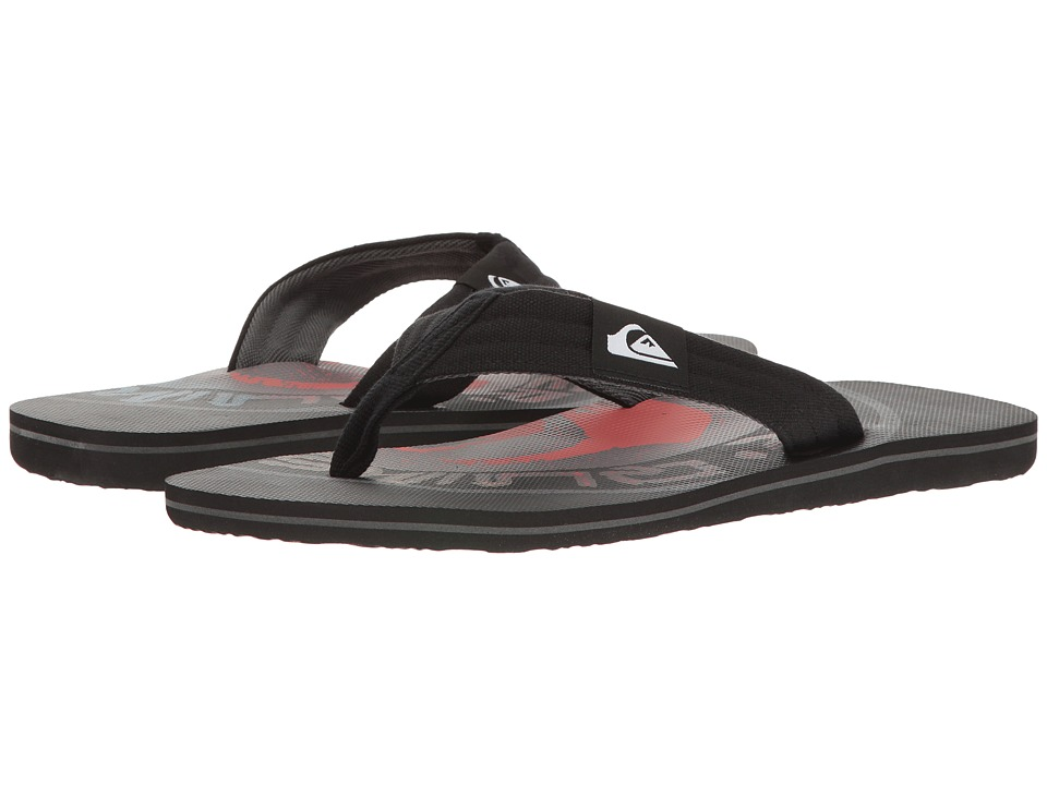Quiksilver - Molokai Layback (Black/Black/Red) Men's Sandals