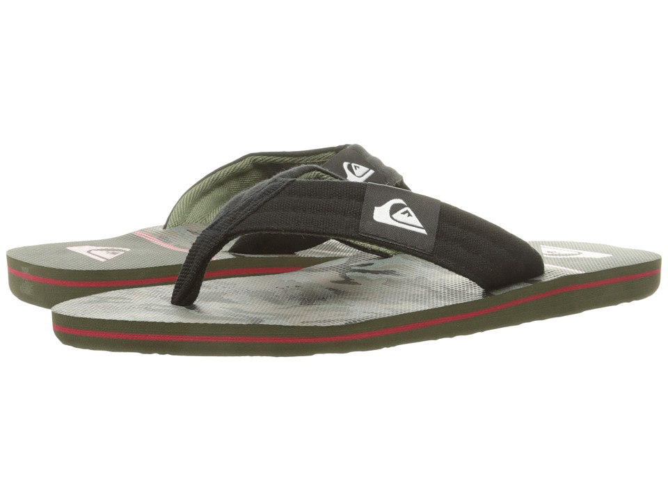 Quiksilver - Molokai Layback (Black/Red/Green) Men's Sandals