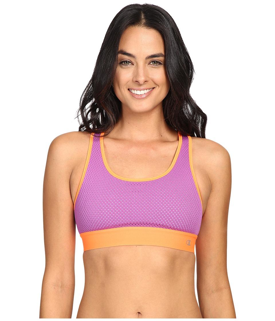 Champion - Mesh Freedom Racerback (Amethyst Glaze/Electric Orange) Women's Workout
