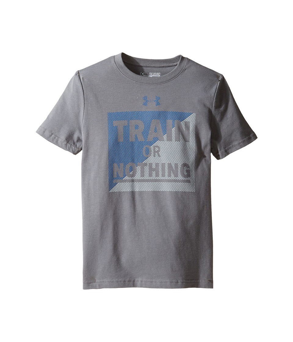 Under Armour Kids - Train Or Nothing Short Sleeve Tee (Big Kids) (Graphite/Overcast Gray) Boy's T Shirt