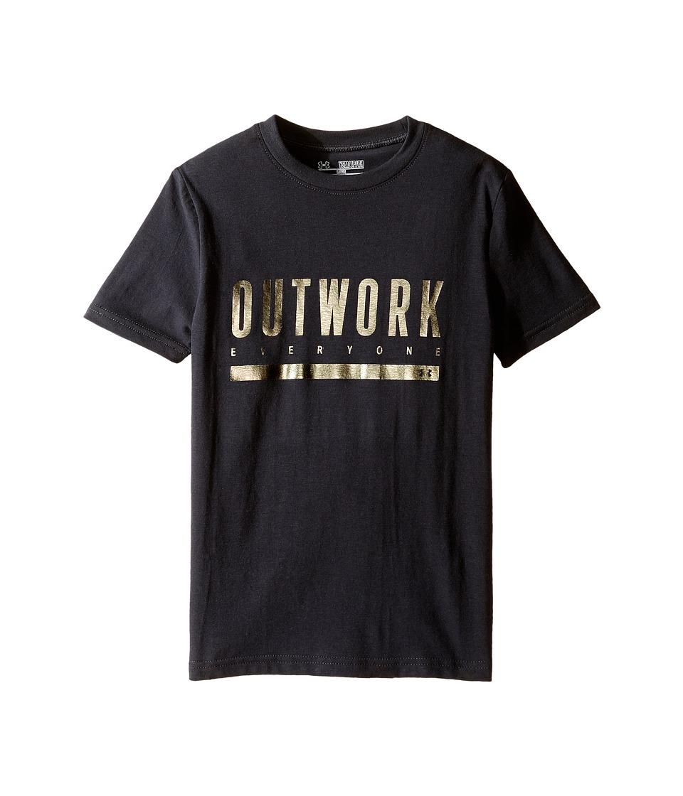 Under Armour Kids - Outwork Everybody Short Sleeve Tee (Big Kids) (Black/Iridescent Foil) Boy's T Shirt