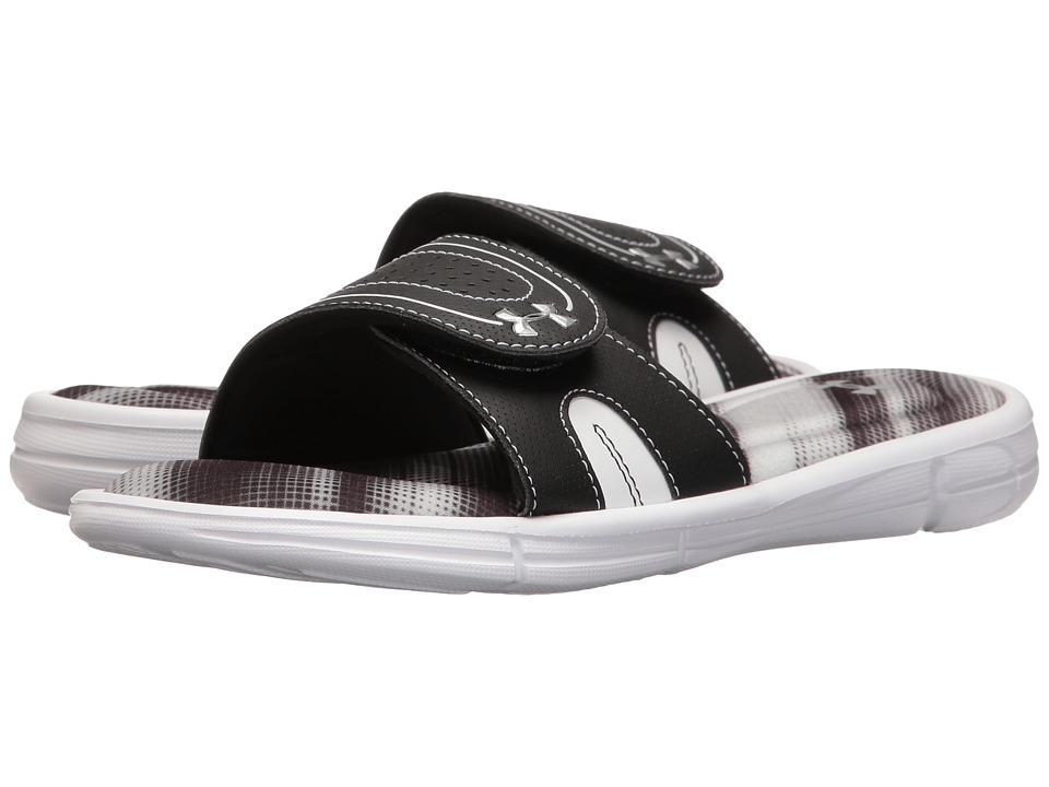 Under Armour - UA Ignite Finisher VIII Slide (Glacier Gray/Black/Metallic Silver) Women's Shoes