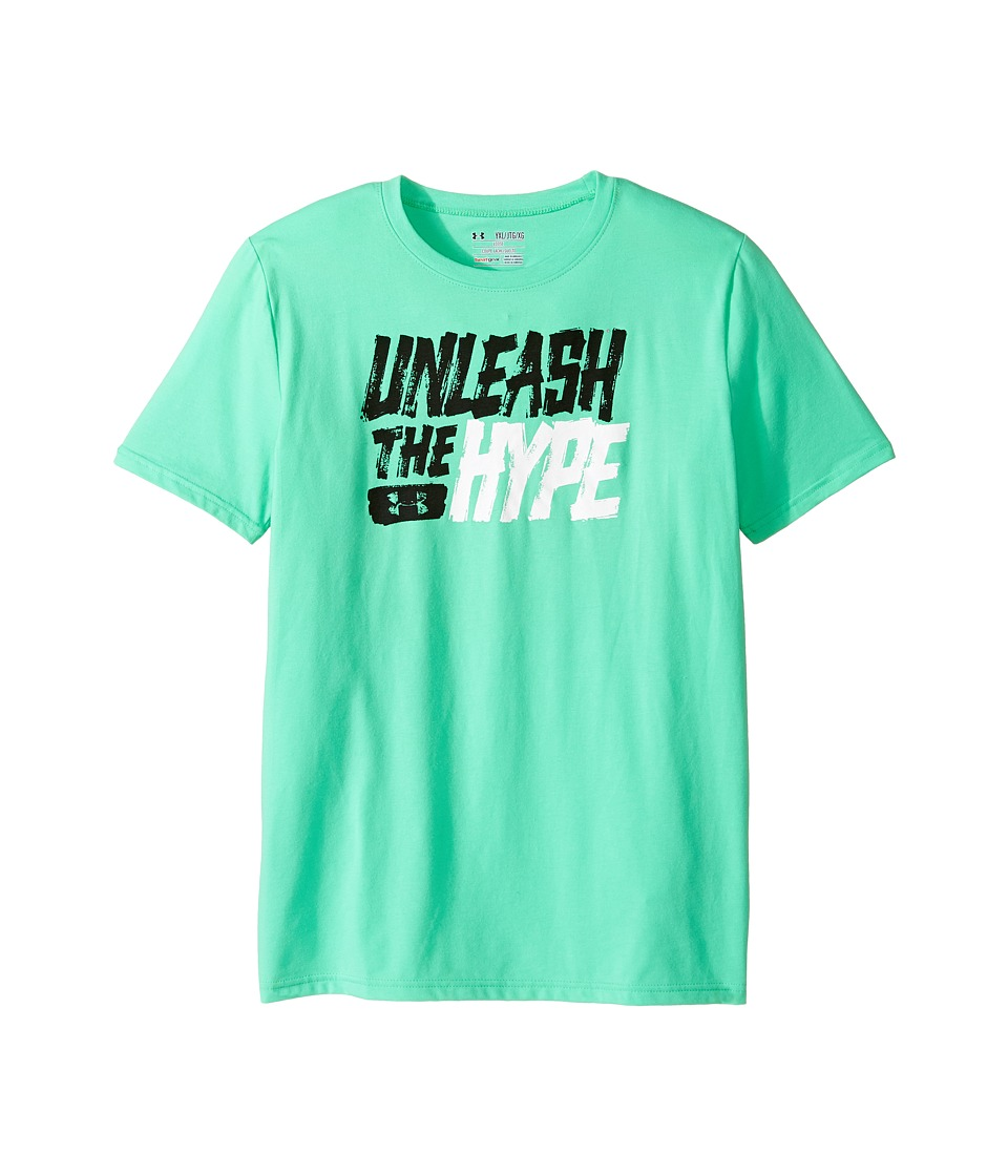 Under Armour Kids - Unleashed Short Sleeve Tee (Big Kids) (Vapor Green/Black) Boy's T Shirt