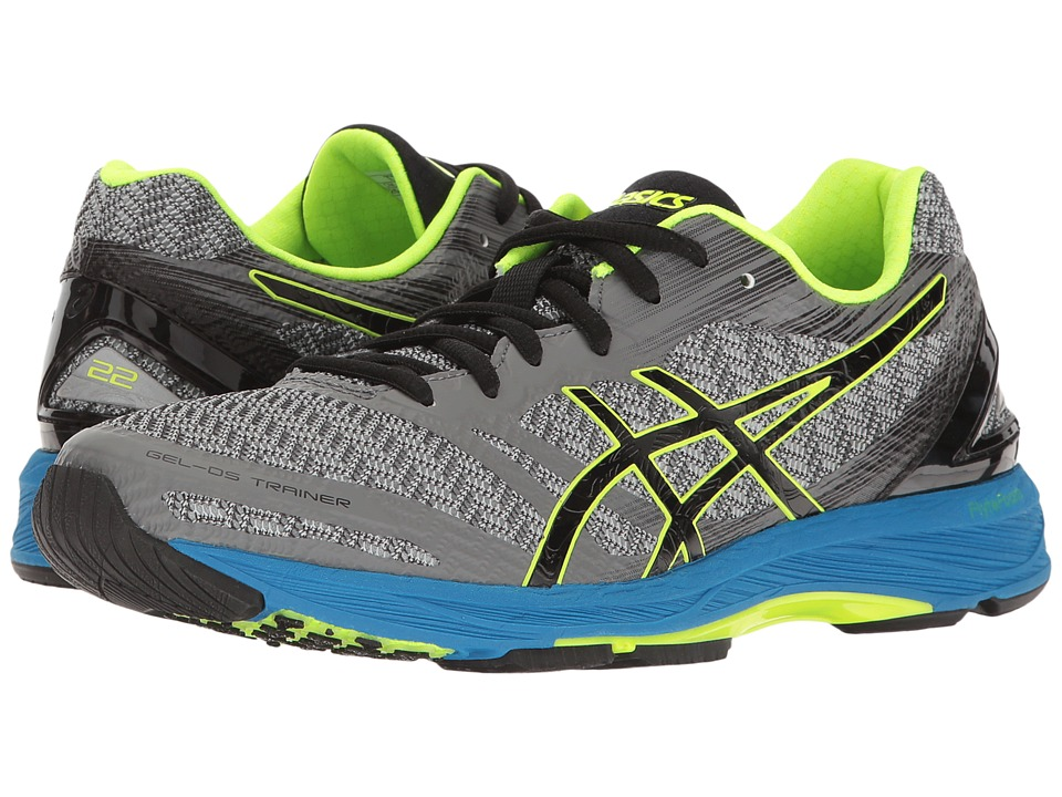 ASICS GEL-DS Trainer(r) 22 (Carbon/Black/Safety Yellow) Men