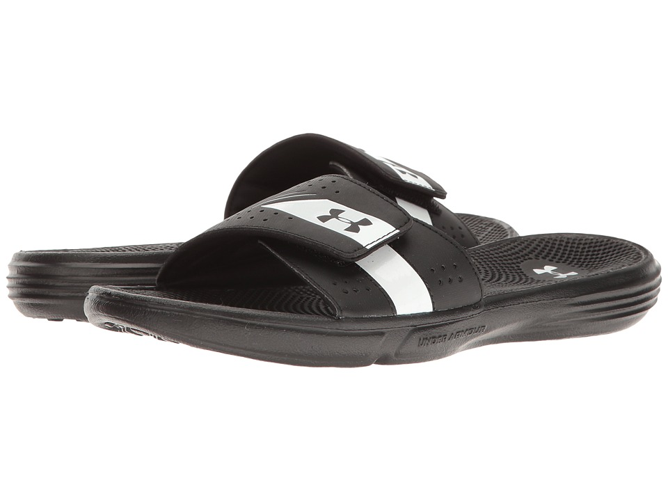 Under Armour - UA Micro G EV III Slide (Black/White) Women's Shoes