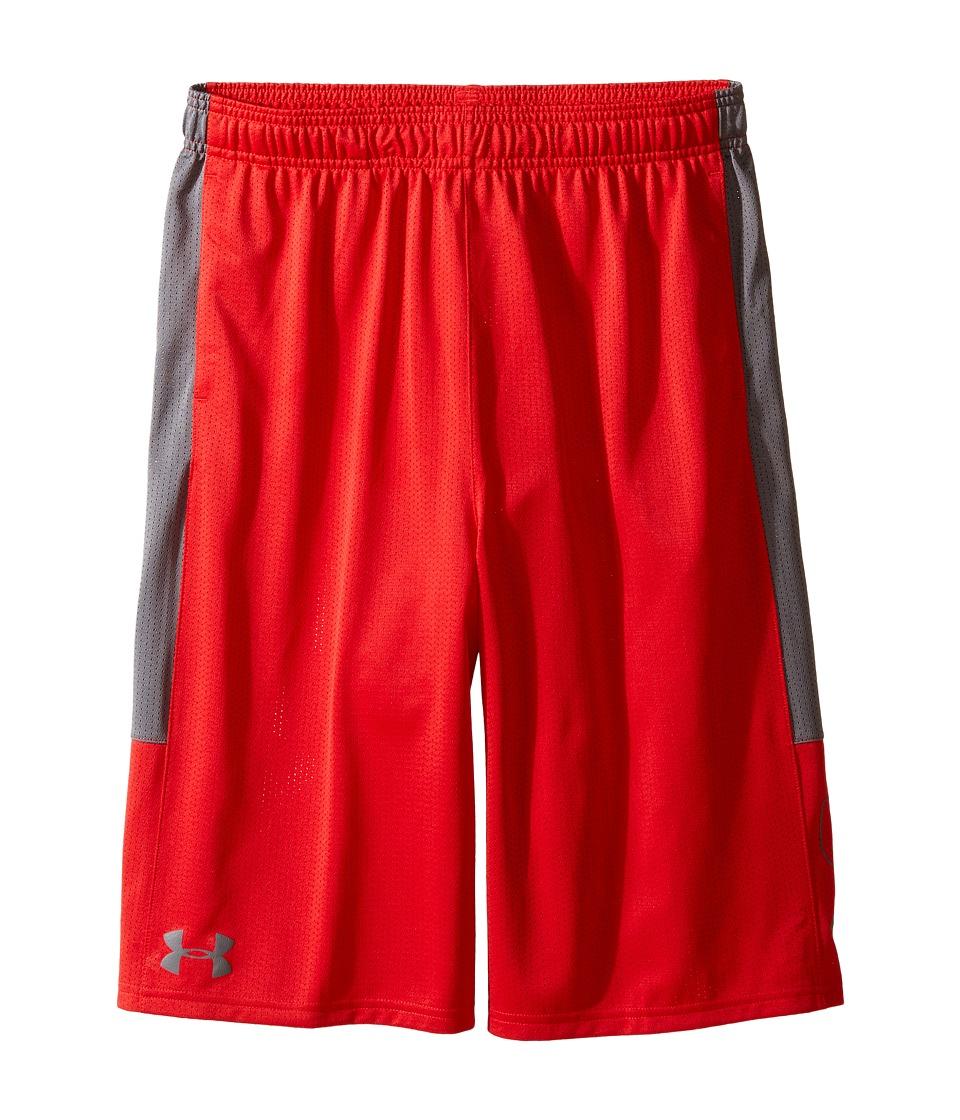 Under Armour Kids - Instinct Mesh Shorts (Big Kids) (Red/Graphite) Boy's Shorts