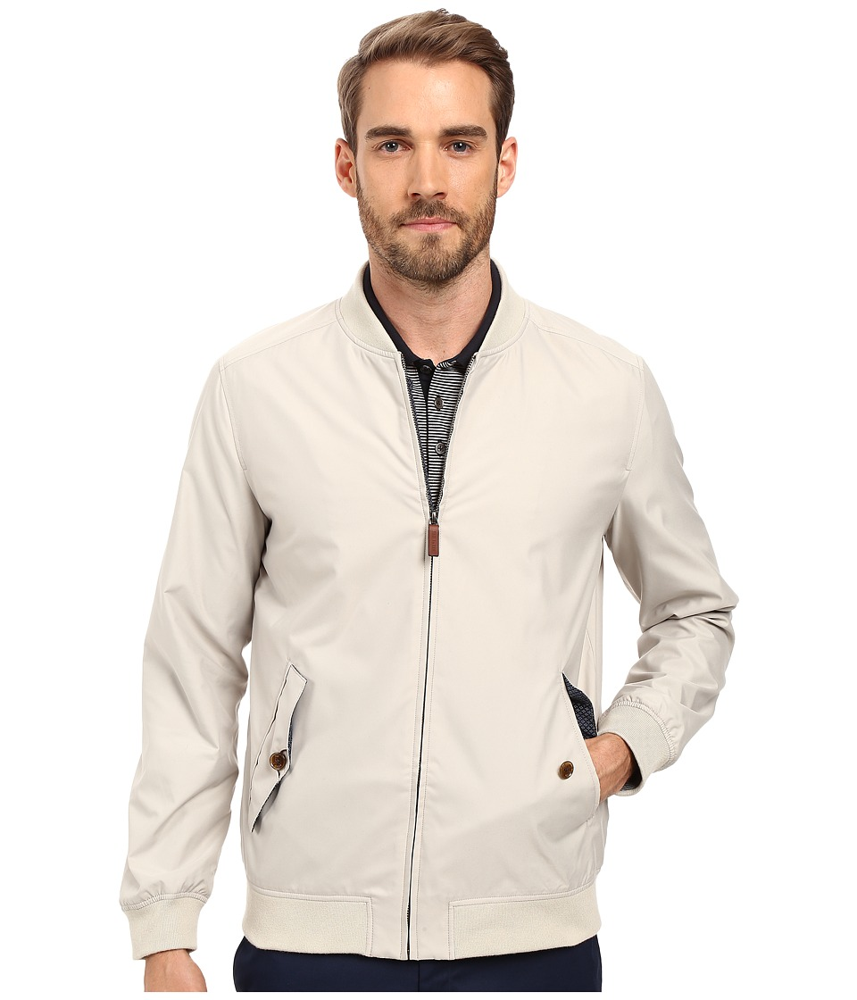 Ted Baker - Sailors Microfiber Bomber (Natural) Men's Coat