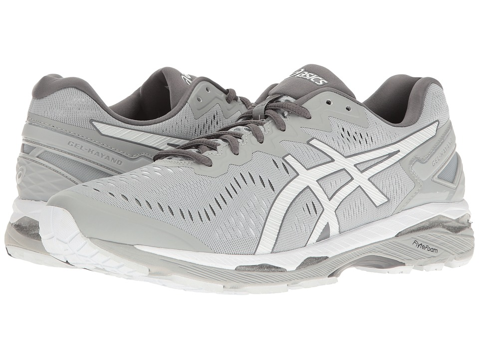 ASICS - Gel-Kayano(r) 23 (Mid Grey/White/Carbon) Men's Running Shoes