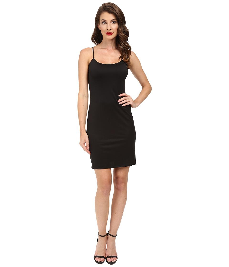 Unique Vintage - Short Stretch Slip (Black) Women's Dress