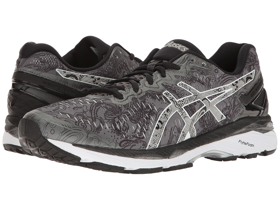ASICS - Gel-Kayano(r) 23 Lite-Show (Carbon/Silver/Reflective) Men's Running Shoes