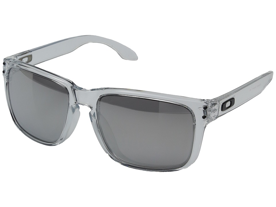 Oakley - (A) Holbrook (Polished Clear w/ Chrome Iridium) Sport Sunglasses
