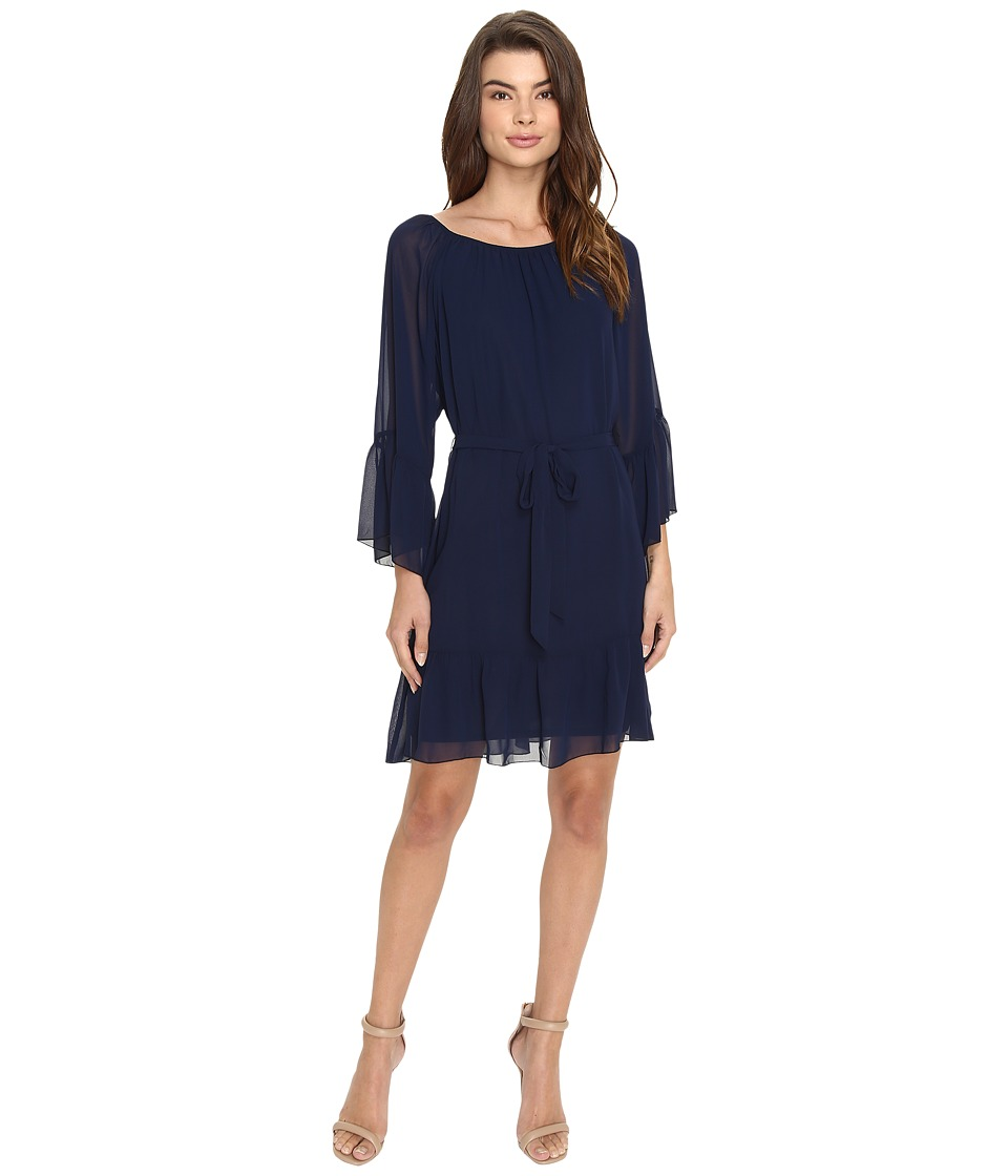 Christin Michaels - Fairview Bell Sleeve Dress (Navy) Women's Dress