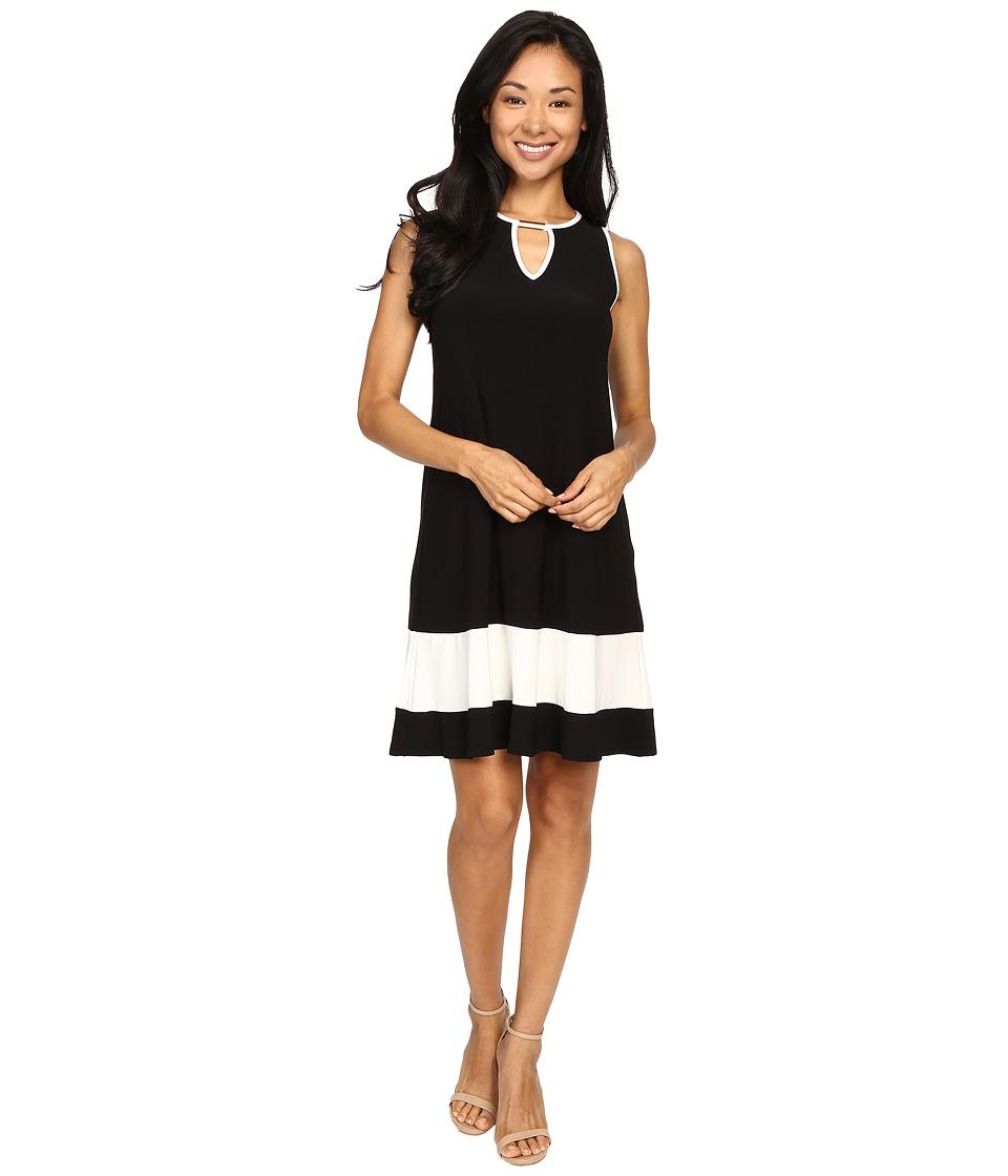 Christin Michaels - Kyra Sleeveless Dress (Black/White) Women's Dress