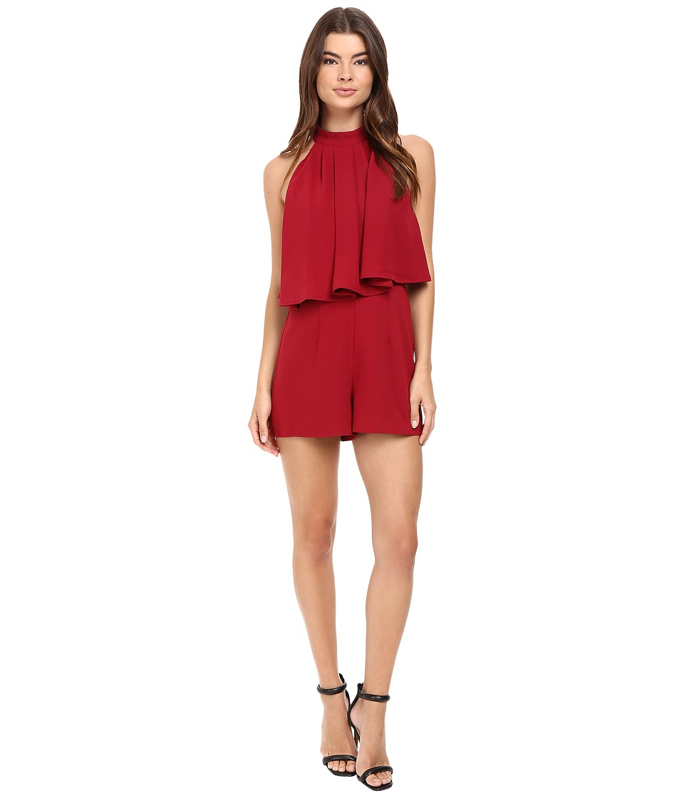 Lovers + Friends - Nicki Romper (Cranberry) Women's Jumpsuit & Rompers One Piece