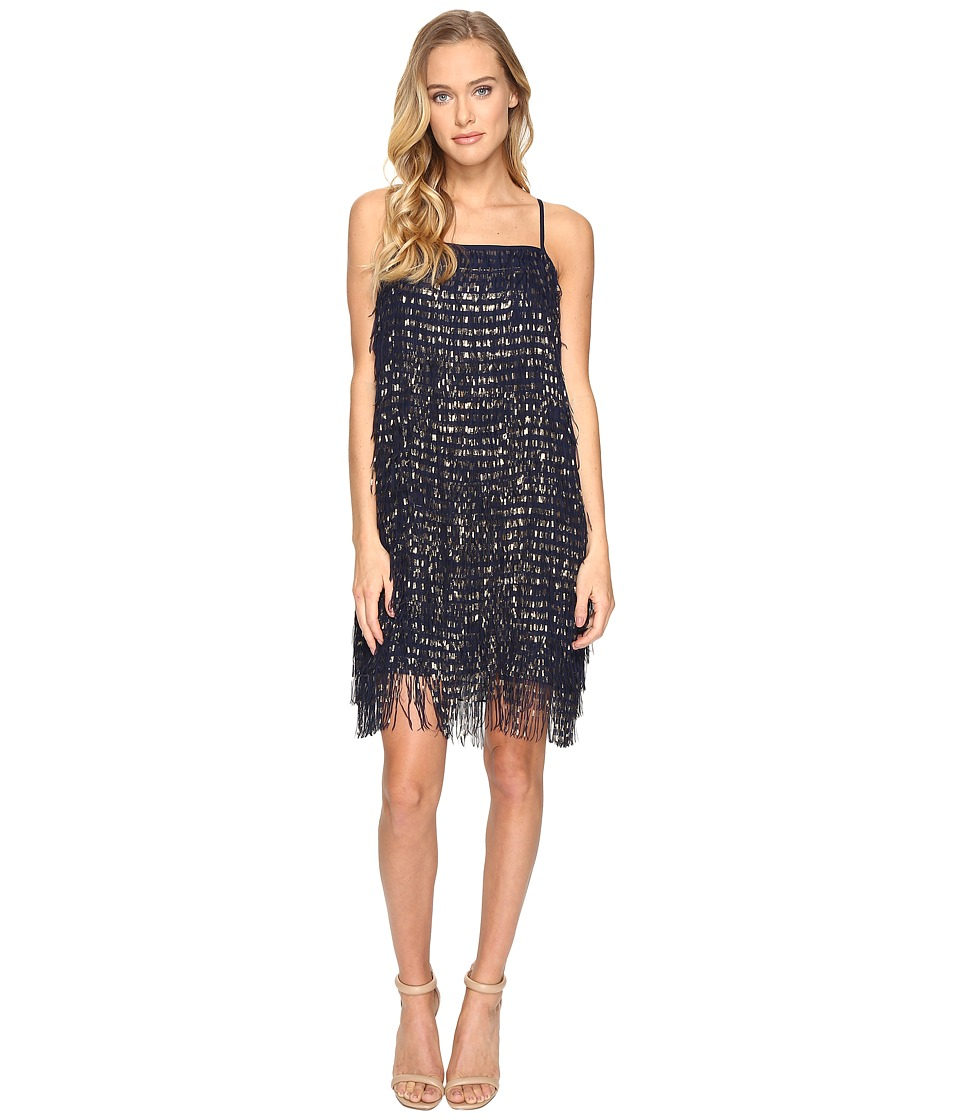 rsvp - Oakland Metallic Dress (Navy/Gold) Women's Dress