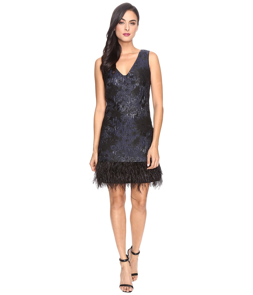 rsvp - Oak Ridge Feather Dress (Black/Navy) Women's Dress
