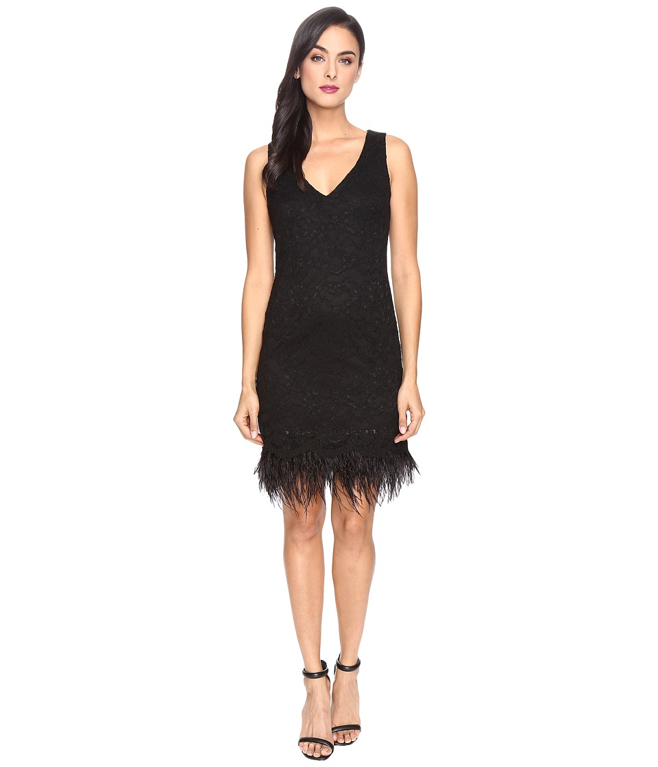 rsvp - Parsons Metallic Lace Dress (Black/Gold) Women's Dress
