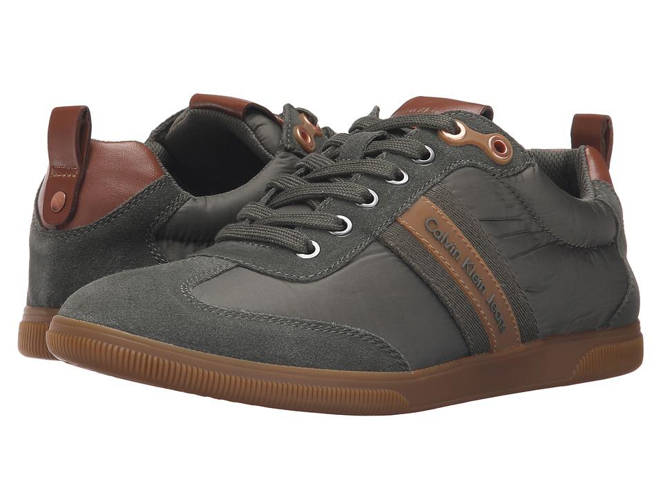 Calvin Klein Jeans Utah (Military/Whiskey Suede/Piuma Nylon/Nappa) Men