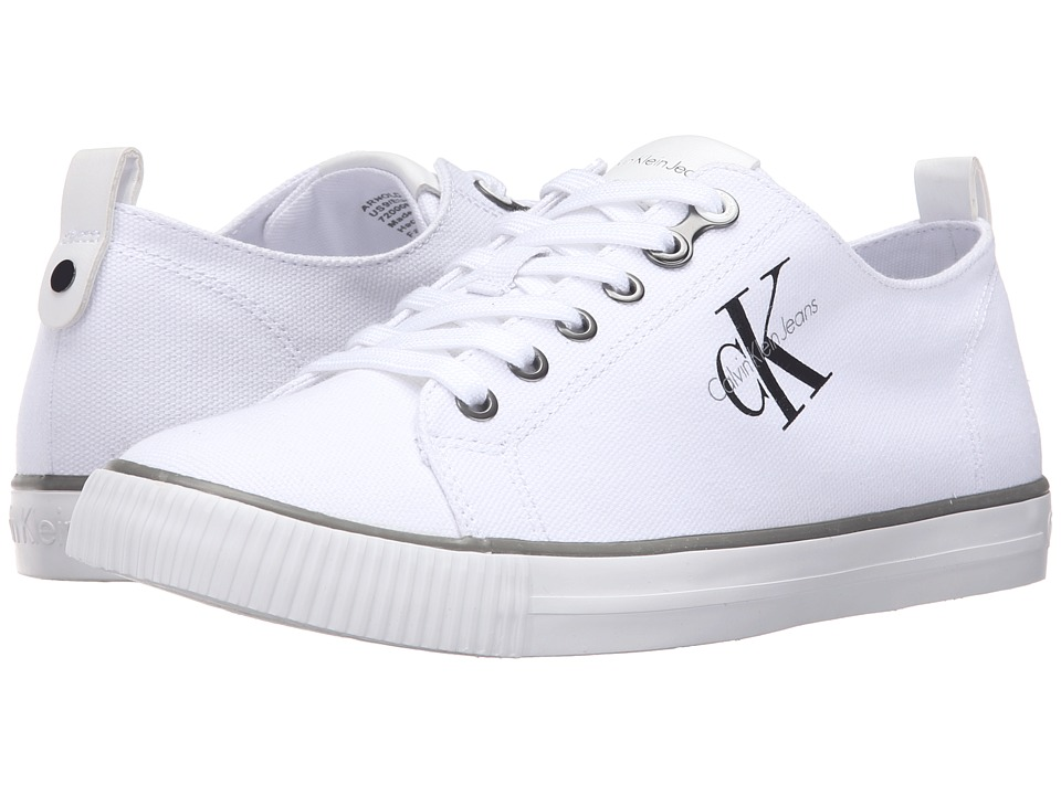 Calvin Klein - Arnold (White Canvas) Men's Shoes