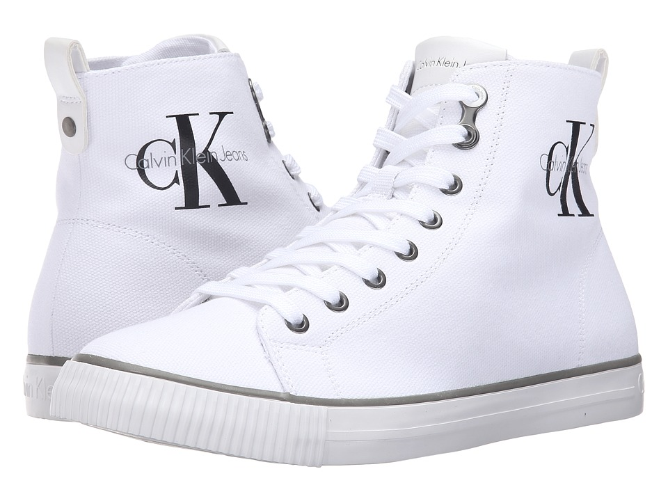 Calvin Klein - Arthur (White Canvas) Men's Shoes