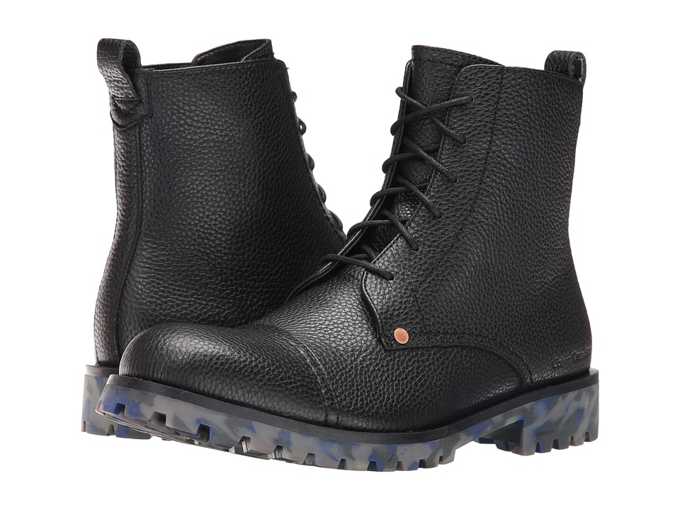 Calvin Klein Jeans - Nex (Black Thicker Grainy Leather) Men's Shoes