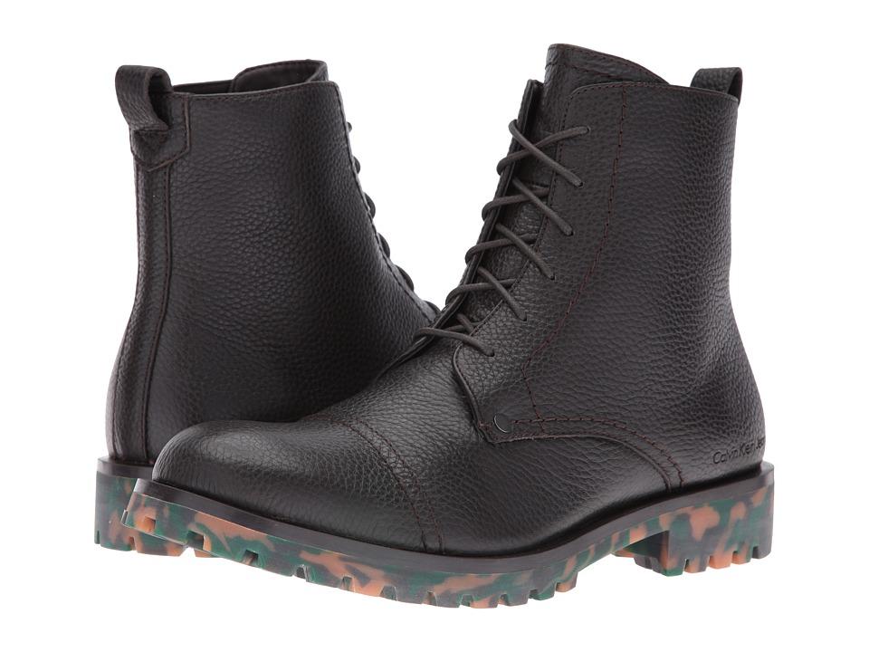 Calvin Klein - Nex (Mocha Thicker Grainy Leather) Men's Shoes