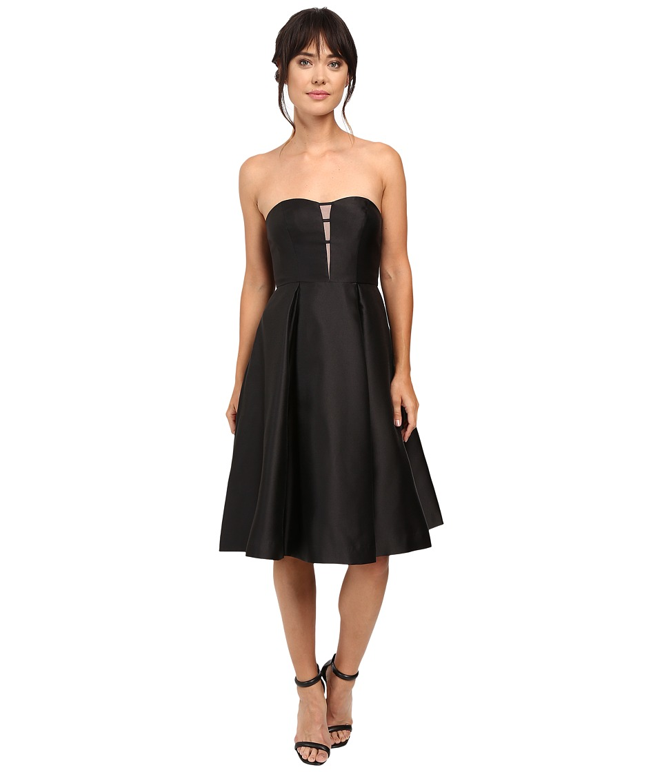 Adrianna Papell - Strapless Mikado Party Dress (Black) Women's Dress