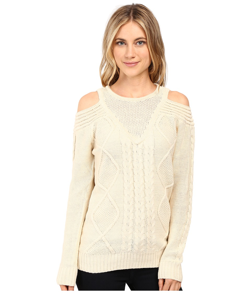 Brigitte Bailey - French Cut Cable Knit Sweater (Ivory) Women's Sweater